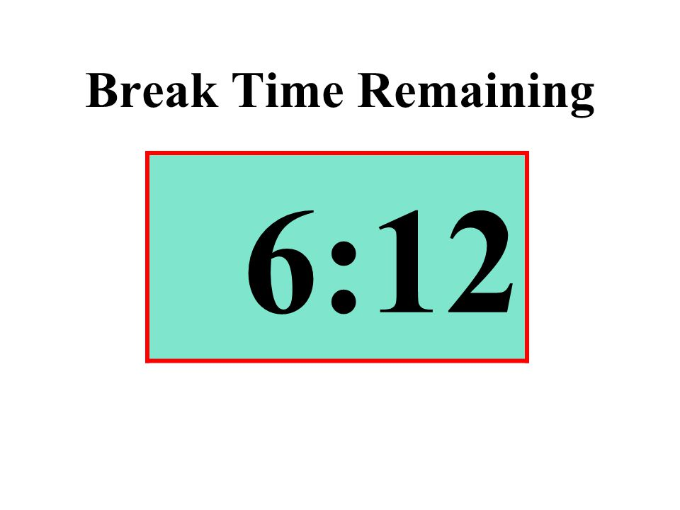 Break Time Remaining 6:12
