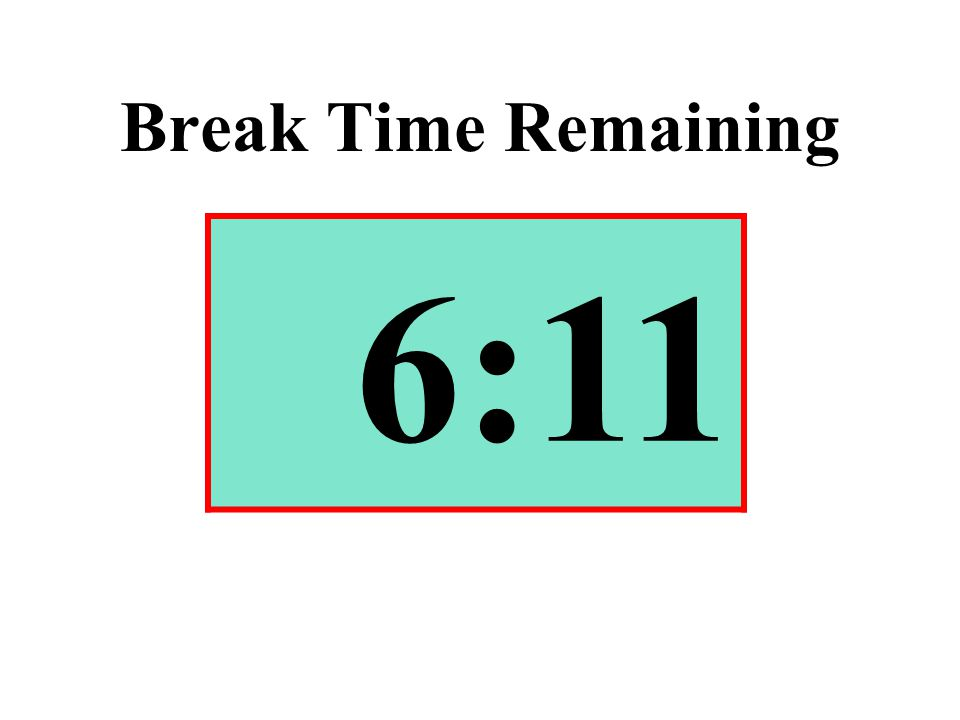 Break Time Remaining 6:11