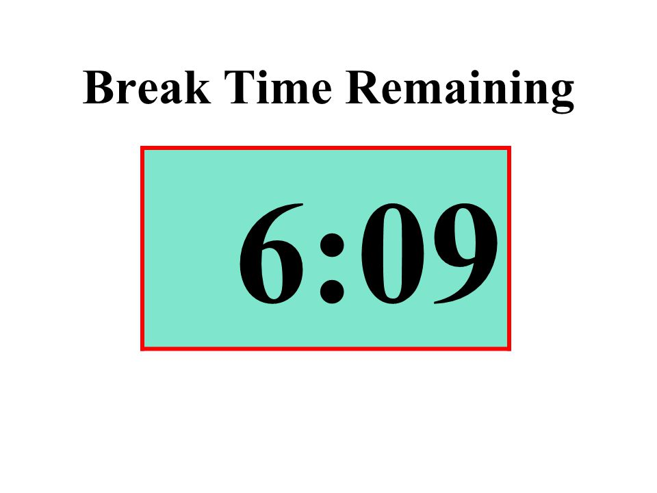 Break Time Remaining 6:09