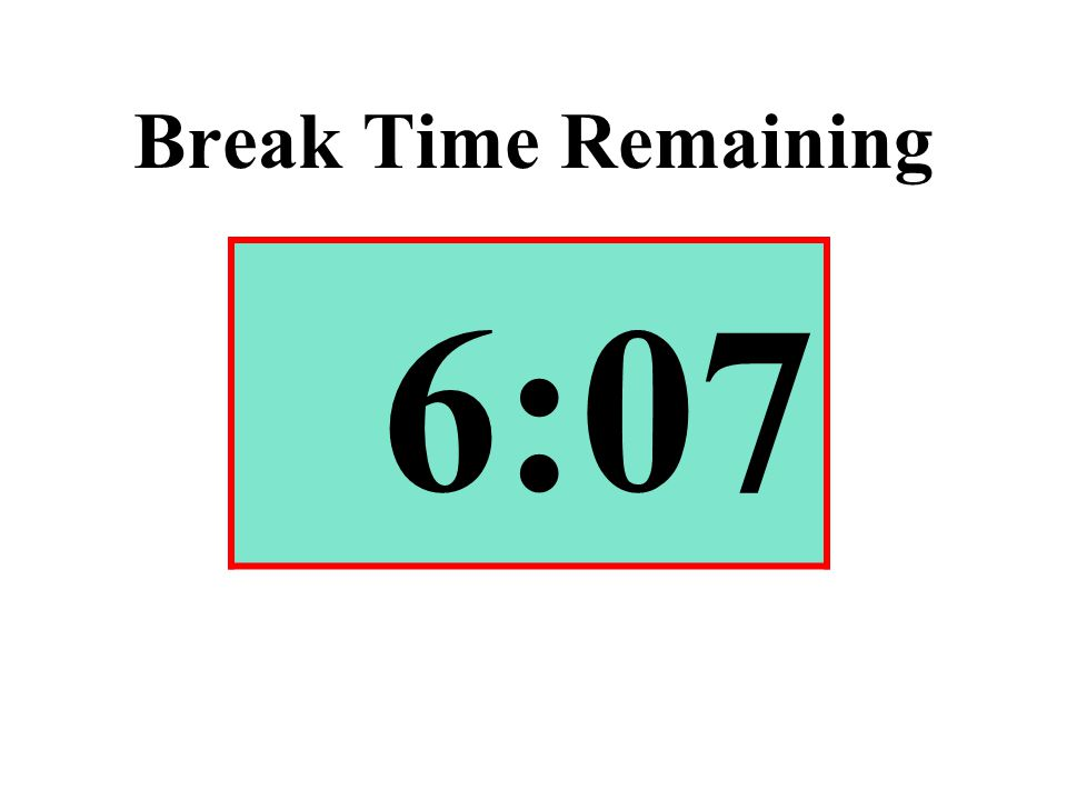 Break Time Remaining 6:07