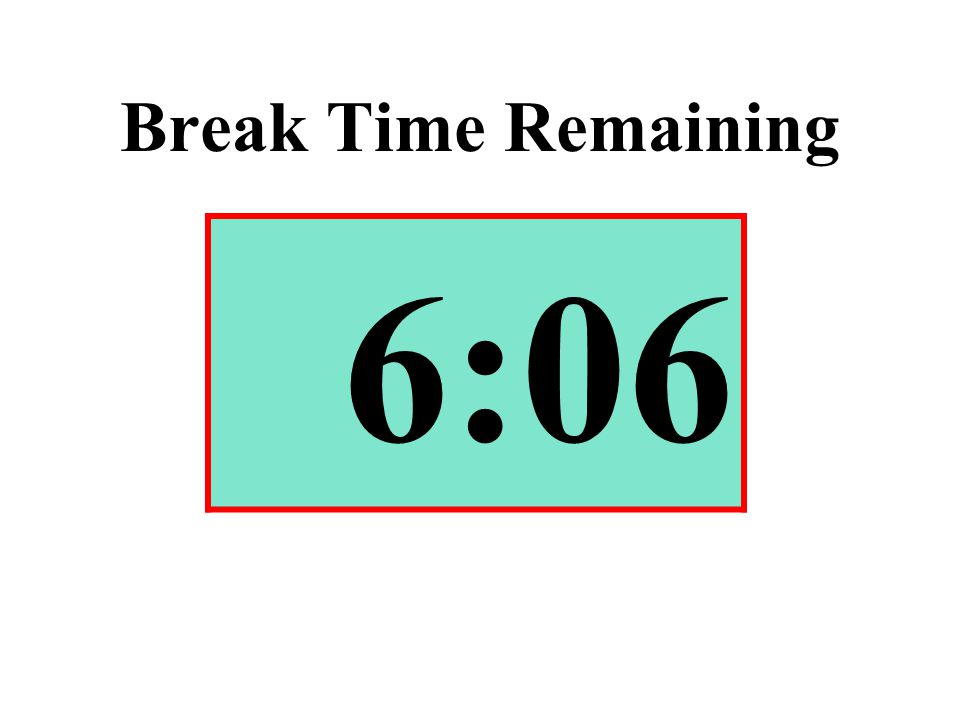 Break Time Remaining 6:06