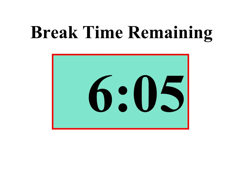 Break Time Remaining 6:05