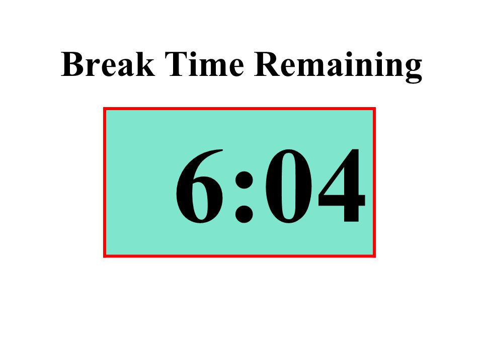 Break Time Remaining 6:04