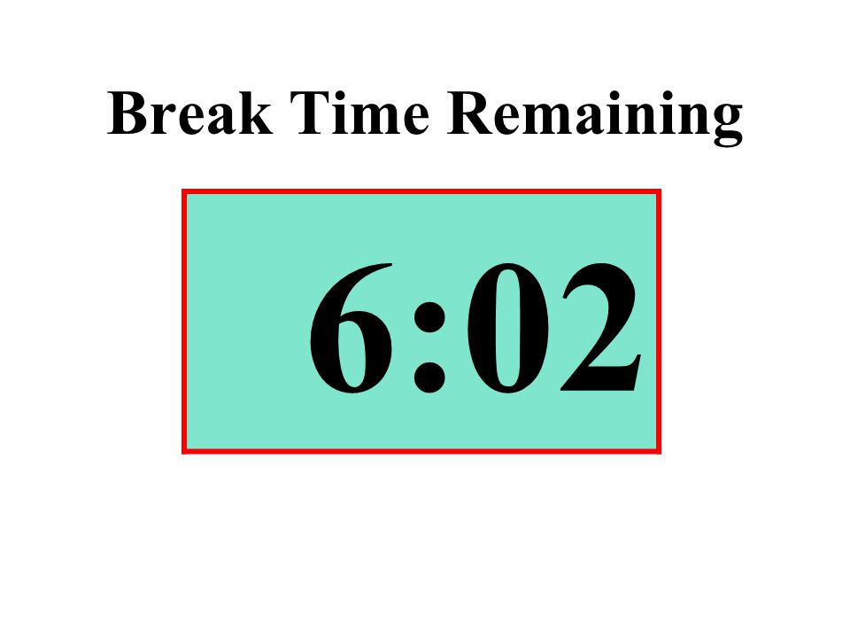 Break Time Remaining 6:02