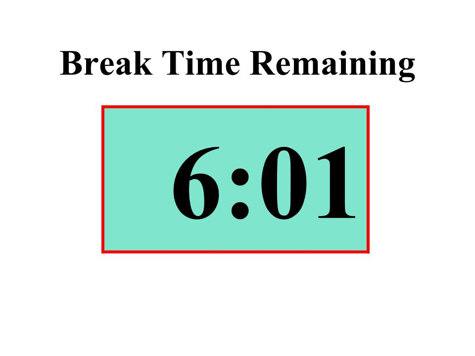 Break Time Remaining 6:01
