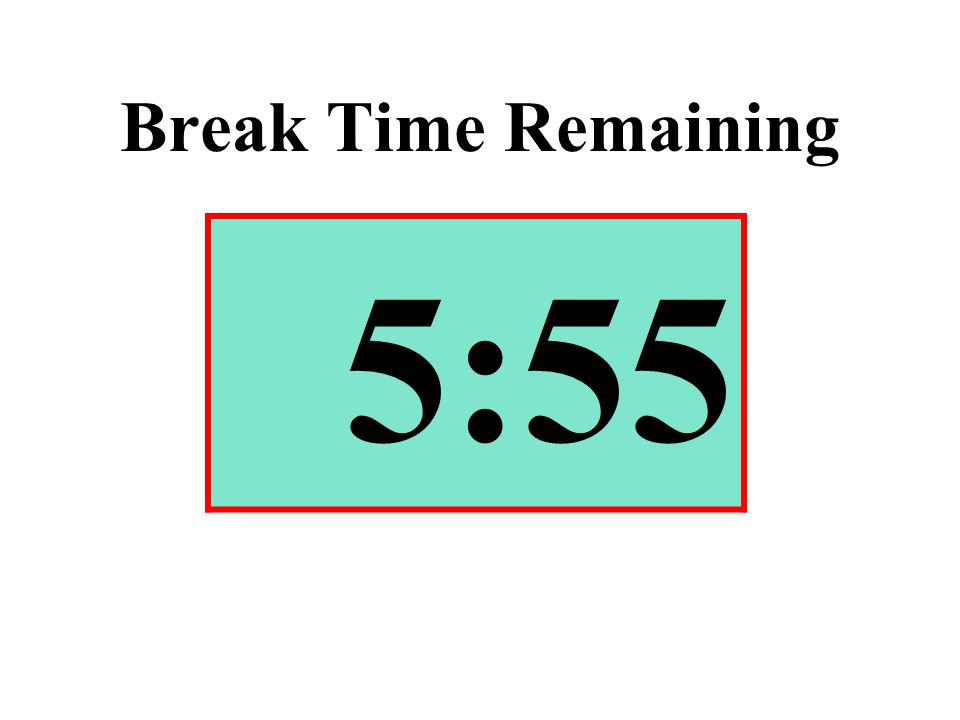Break Time Remaining 5:55