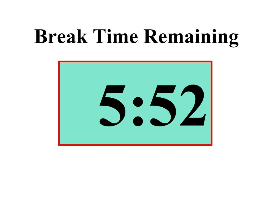 Break Time Remaining 5:52