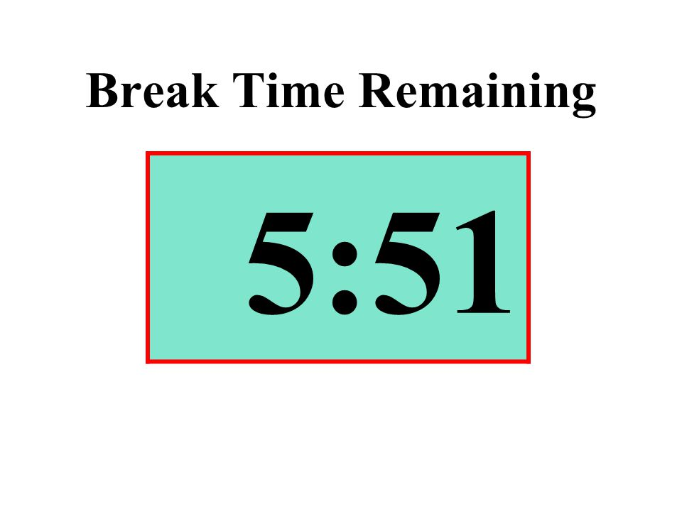 Break Time Remaining 5:51