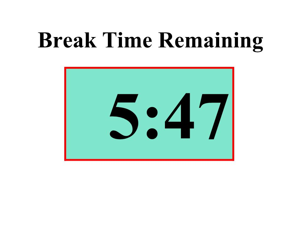 Break Time Remaining 5:47