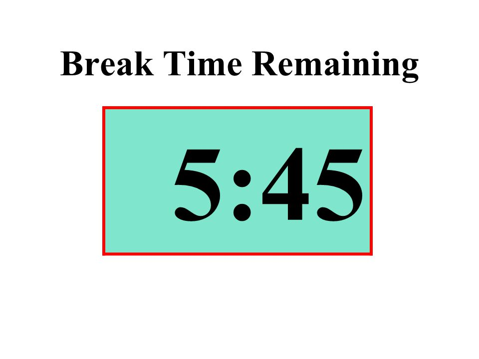 Break Time Remaining 5:45
