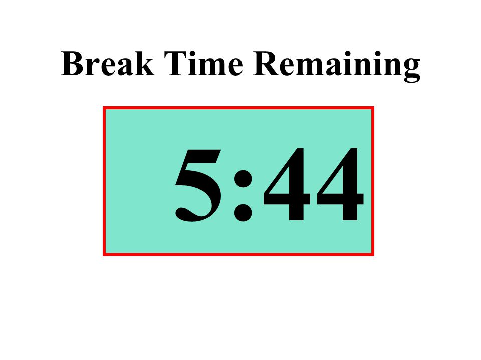 Break Time Remaining 5:44