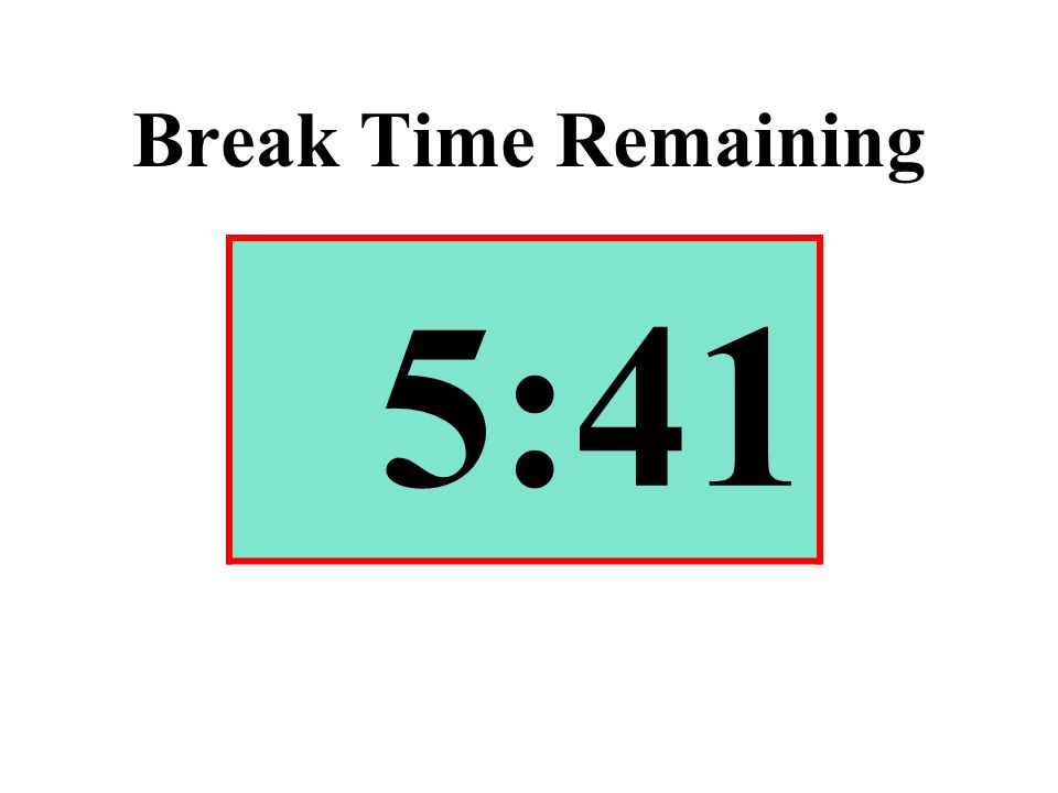 Break Time Remaining 5:41