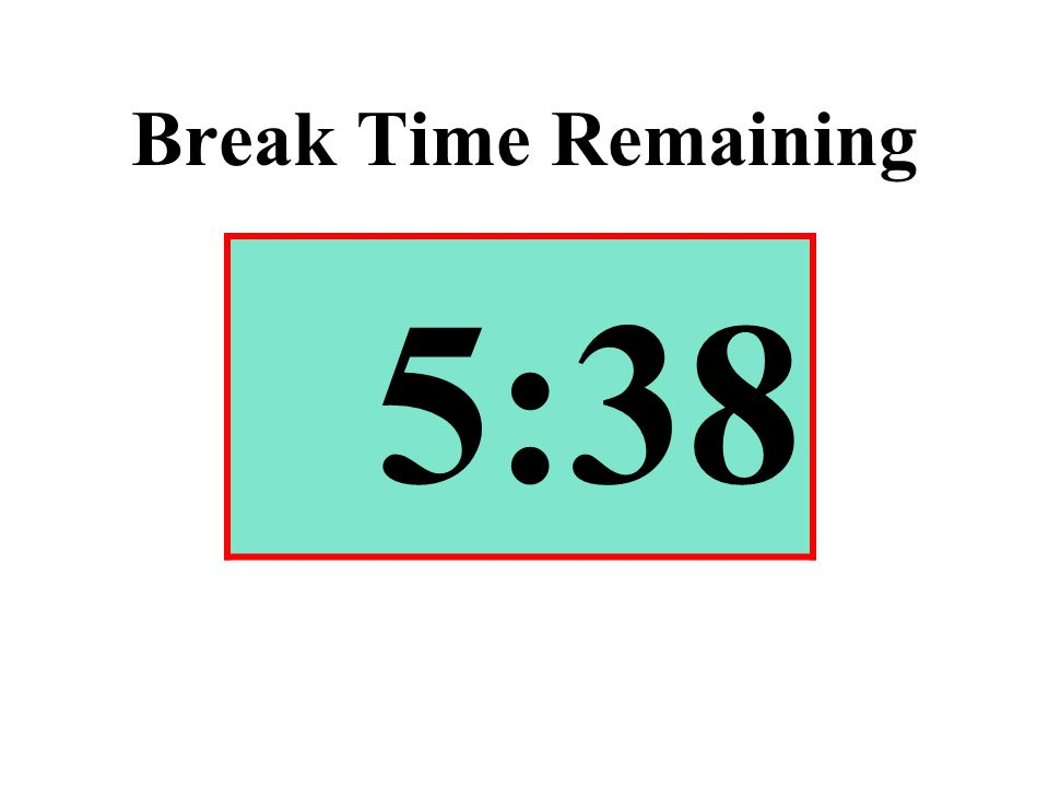 Break Time Remaining 5:38
