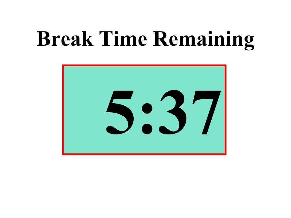 Break Time Remaining 5:37