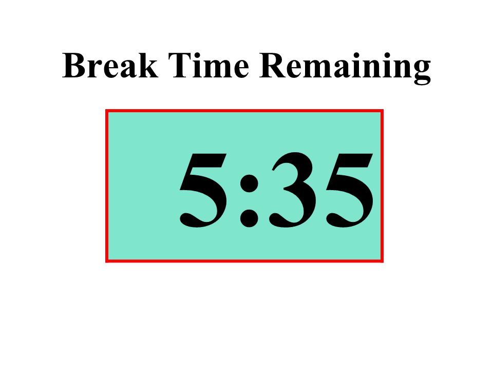 Break Time Remaining 5:35