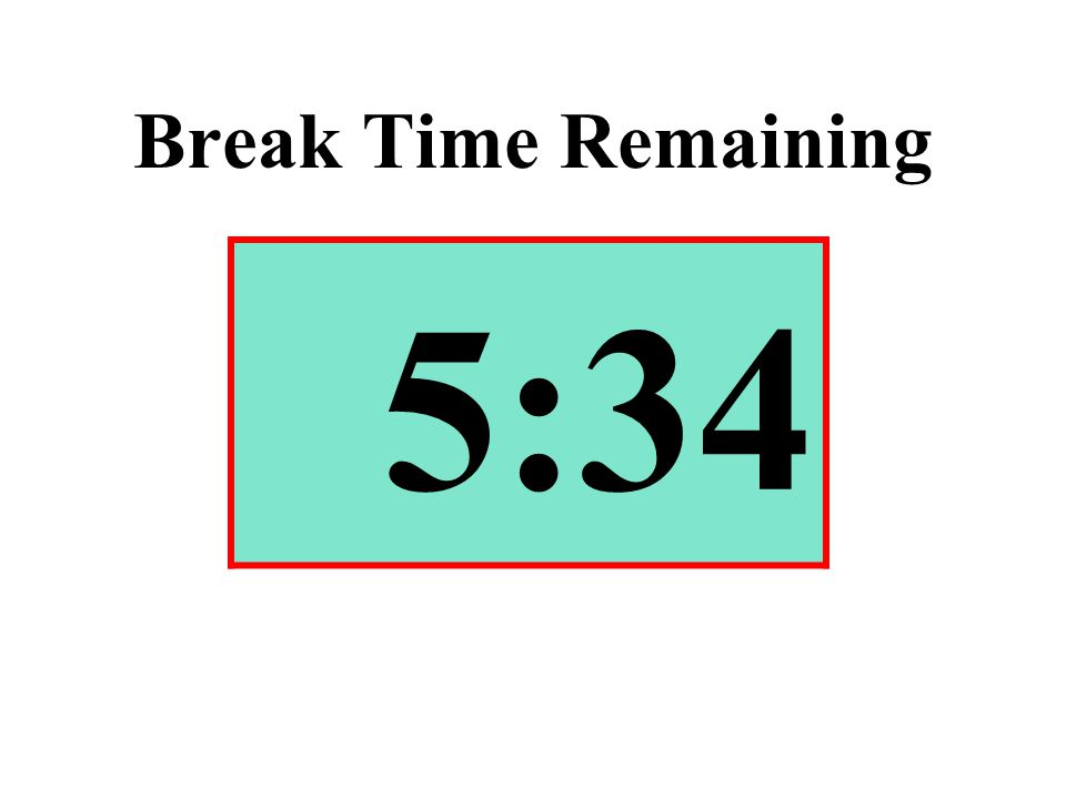 Break Time Remaining 5:34