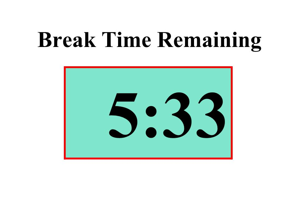Break Time Remaining 5:33