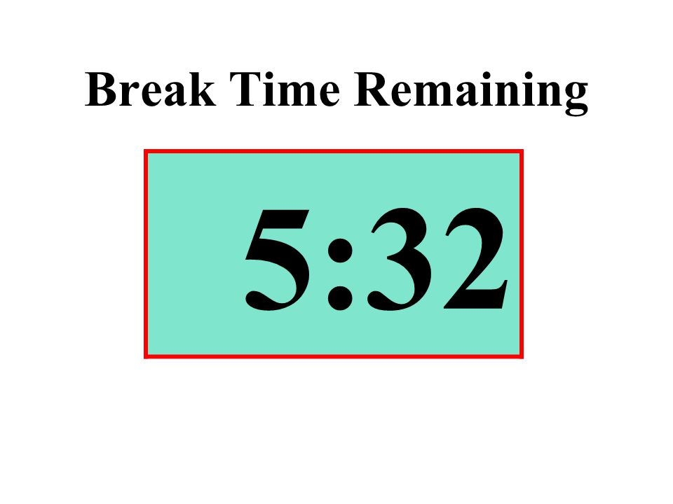 Break Time Remaining 5:32
