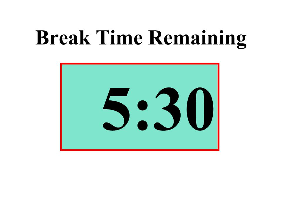 Break Time Remaining 5:30