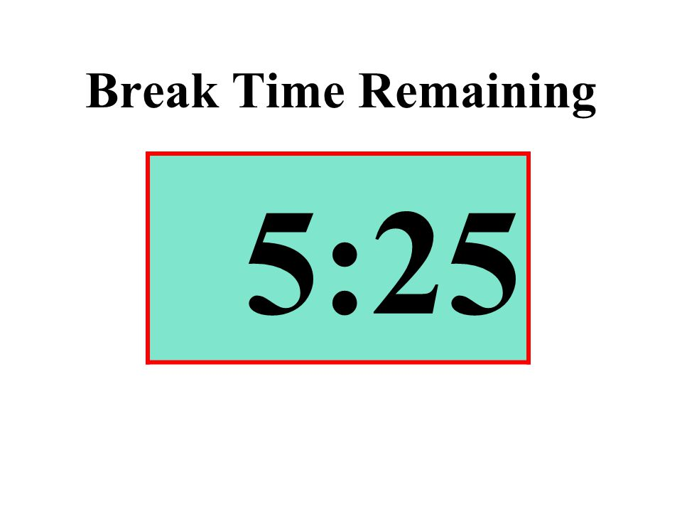 Break Time Remaining 5:25