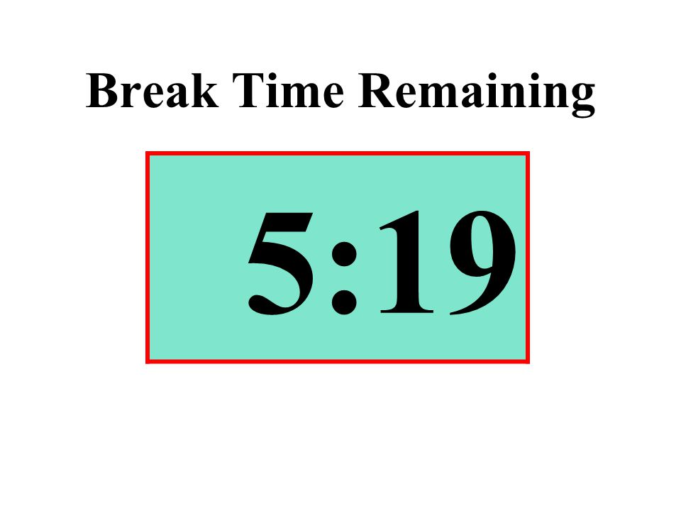 Break Time Remaining 5:19