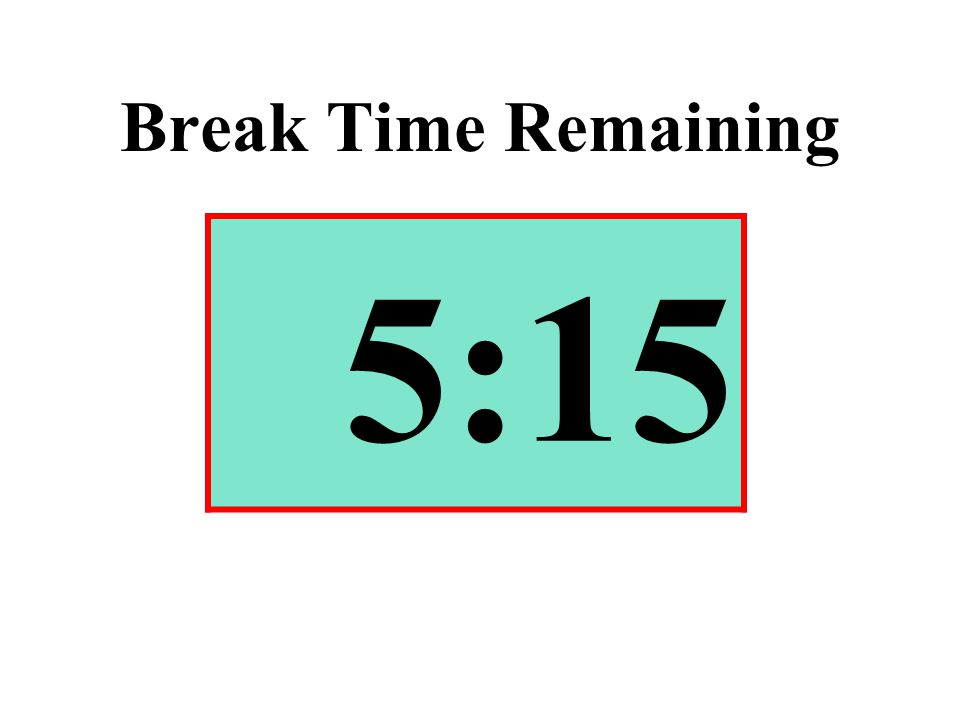 Break Time Remaining 5:15
