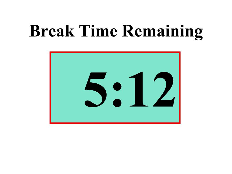 Break Time Remaining 5:12