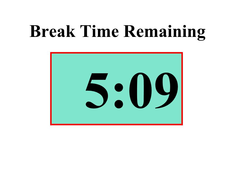 Break Time Remaining 5:09