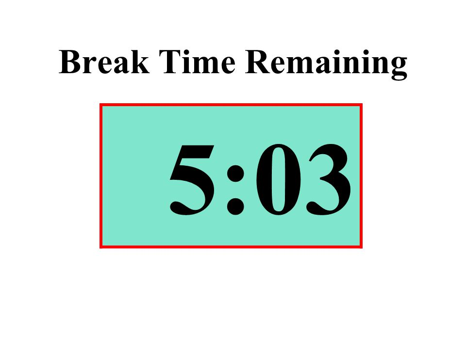 Break Time Remaining 5:03