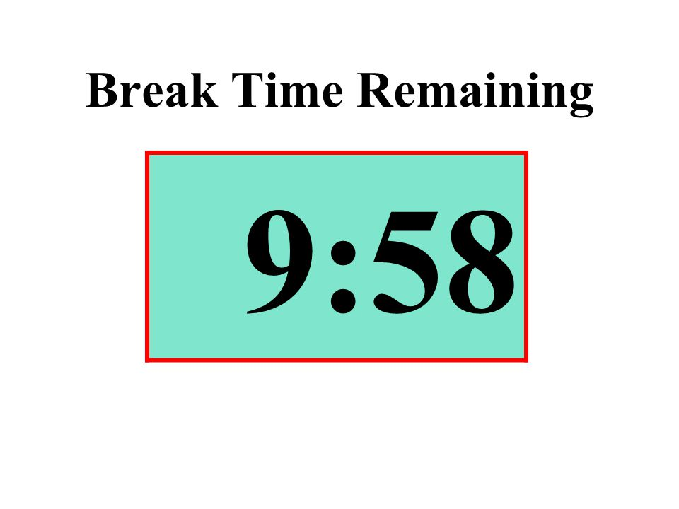 Break Time Remaining 9:58