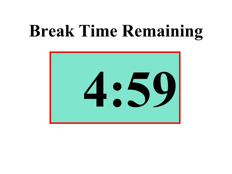 Break Time Remaining 4:59