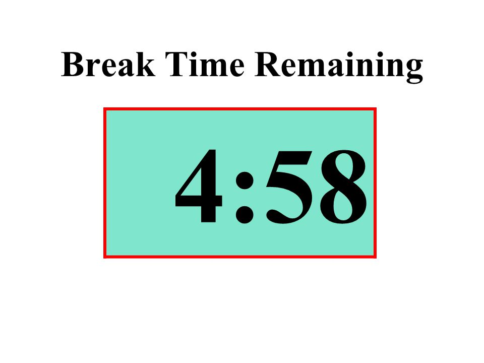Break Time Remaining 4:58