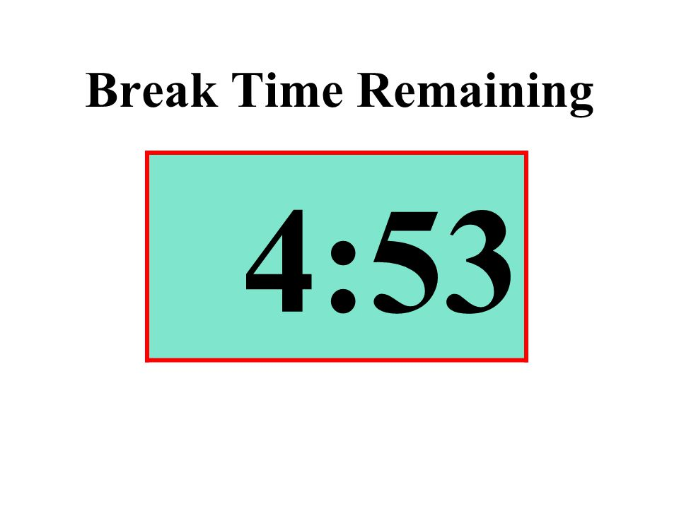 Break Time Remaining 4:53