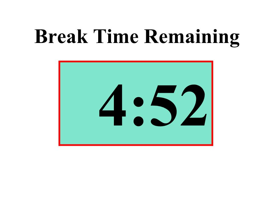 Break Time Remaining 4:52