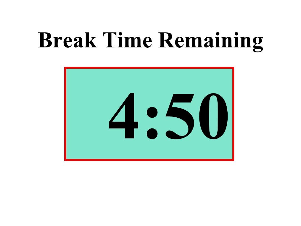 Break Time Remaining 4:50