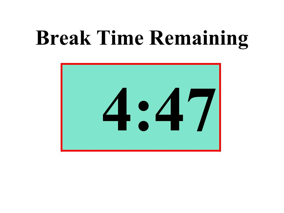 Break Time Remaining 4:47