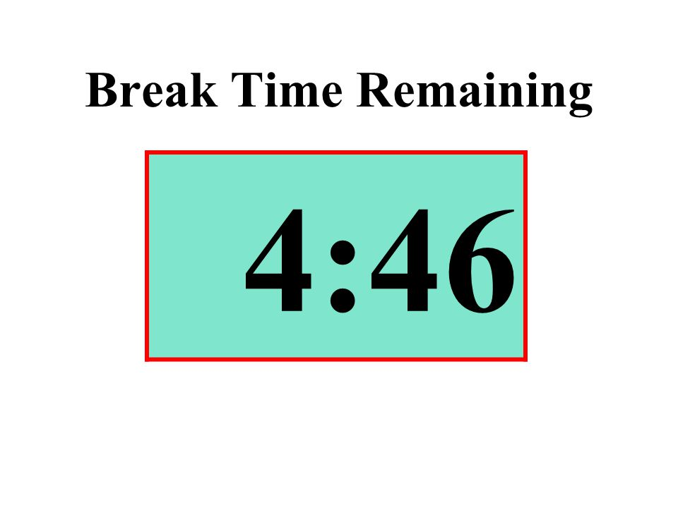 Break Time Remaining 4:46