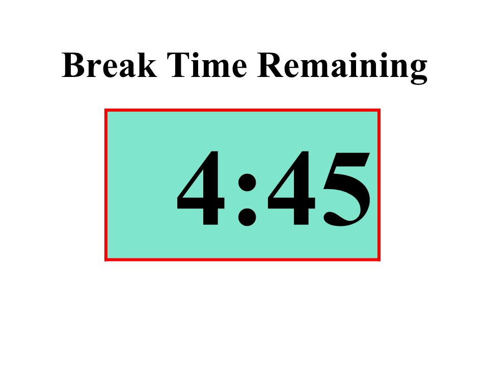 Break Time Remaining 4:45