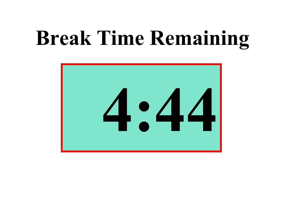 Break Time Remaining 4:44