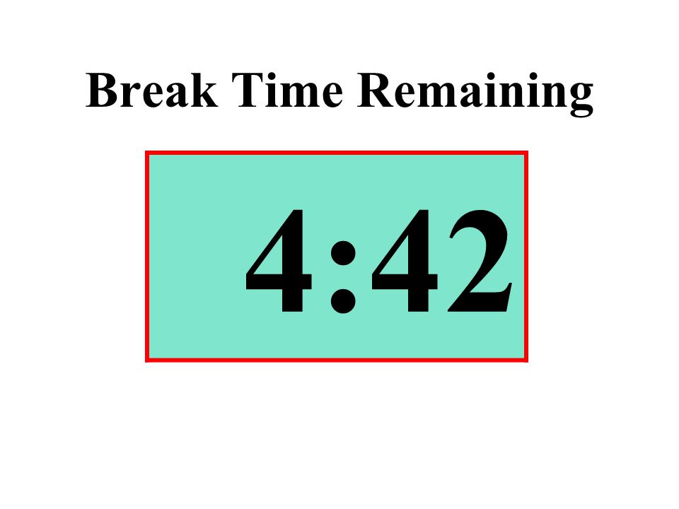 Break Time Remaining 4:42