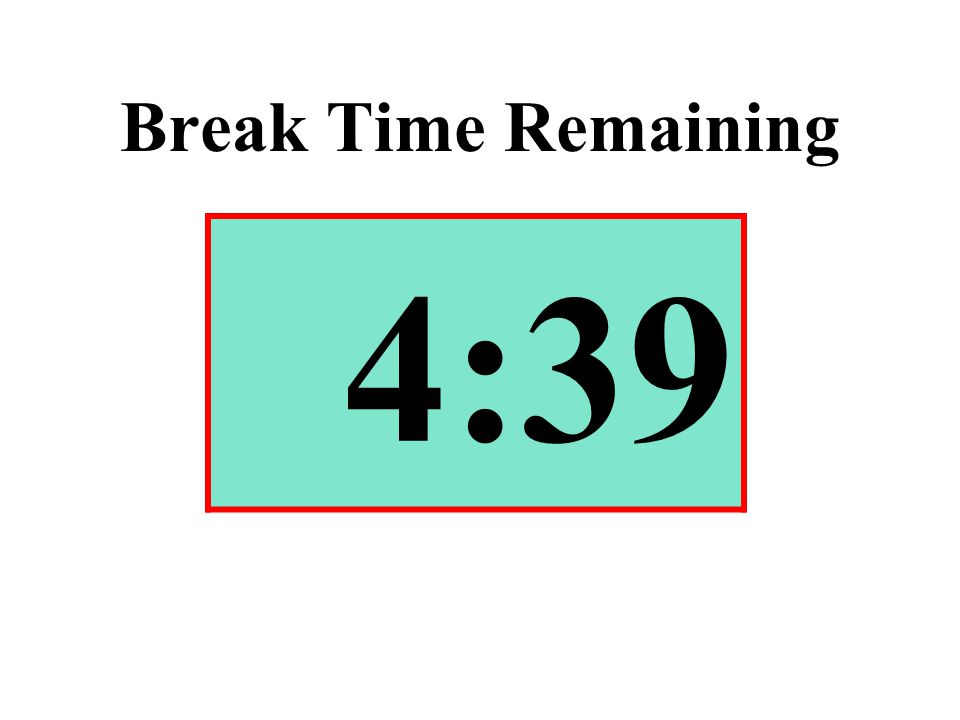 Break Time Remaining 4:39