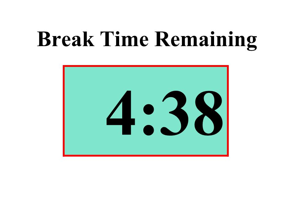 Break Time Remaining 4:38