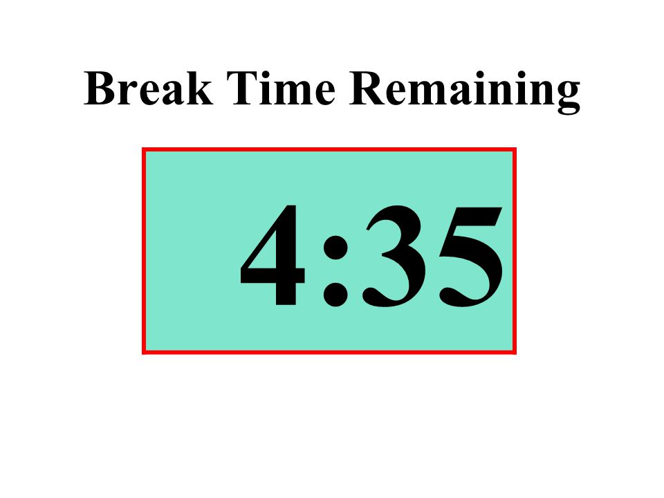 Break Time Remaining 4:35