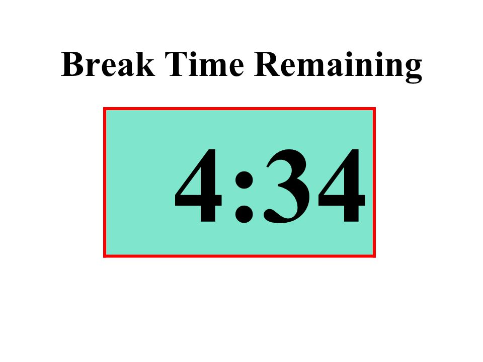 Break Time Remaining 4:34
