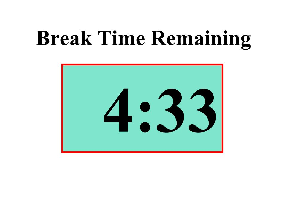 Break Time Remaining 4:33