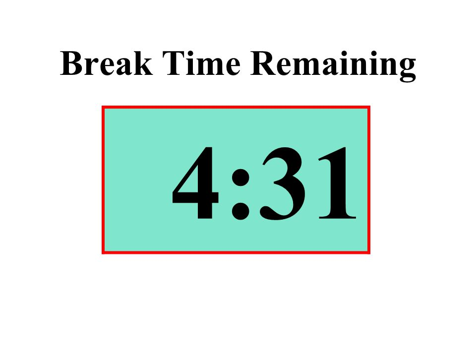 Break Time Remaining 4:31