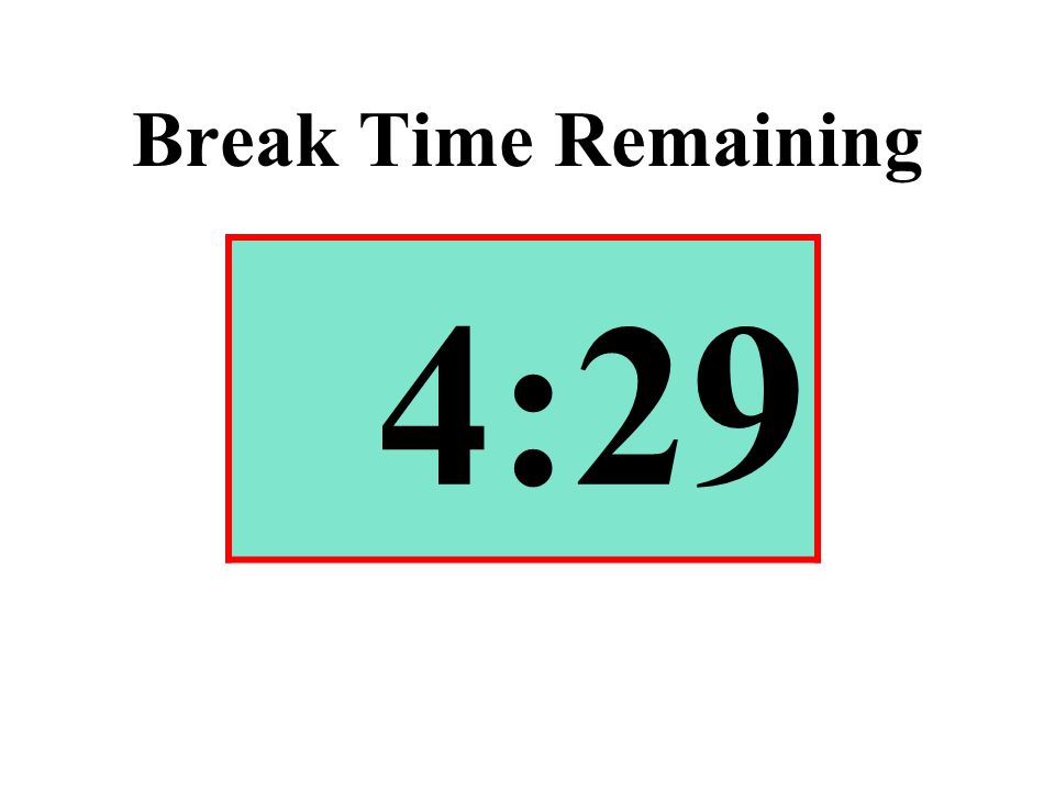 Break Time Remaining 4:29