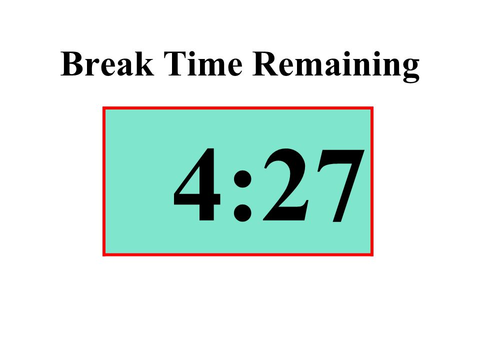 Break Time Remaining 4:27