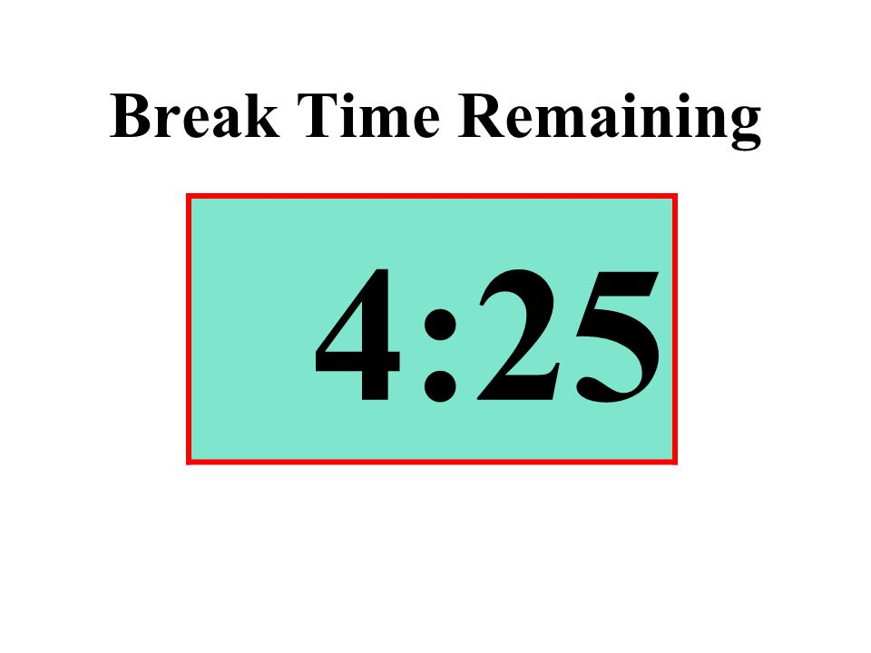 Break Time Remaining 4:25