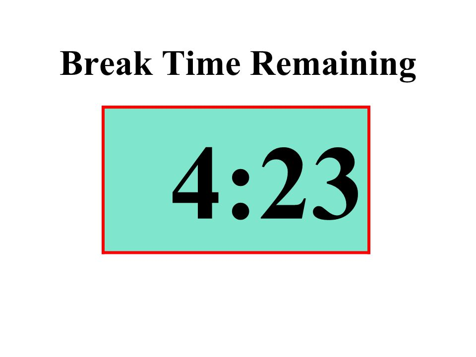 Break Time Remaining 4:23